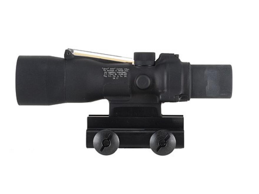 Trijicon ACOG TA33 BAC Rifle Scope 3x 30mm Dual-Illuminated Reticle with TA60 Flattop Mount Matte