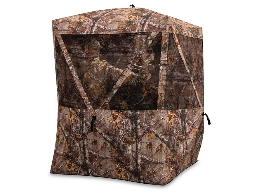 "Ameristep Harvester Ground Blind 74"" x 74"" x 82"" Polyester Realtree Xtra Camo"