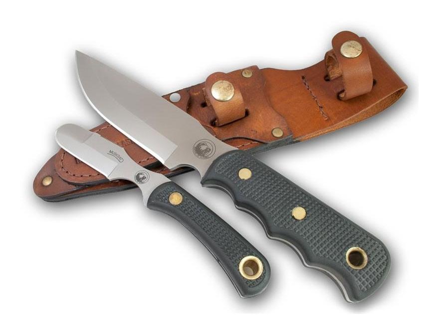 Knives of Alaska Bush Camp/Muskrat Combination Fixed Blade Knife Set Rubber Handles Bla...
