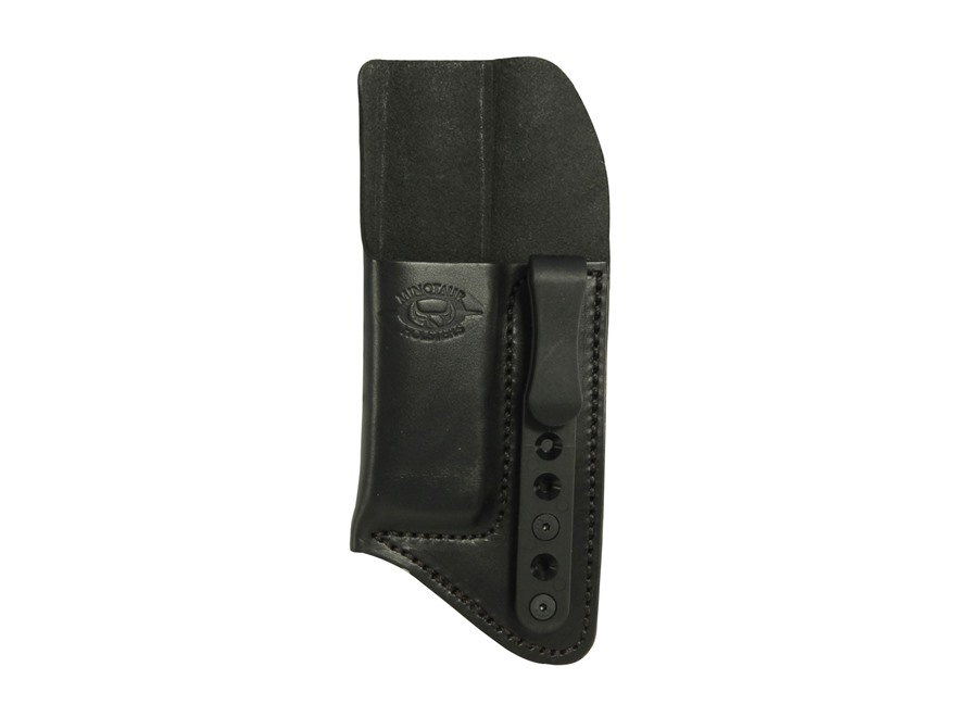 "Comp-Tac Minotaur Concealment Magazine Pouch Inside the Waistband with Black Belt Clip 1-1/2"" Right Hand Large Doube Stack, 45 ACP, 10mm Glock, S&W M&P, Springfiled  XDm, HK Black"