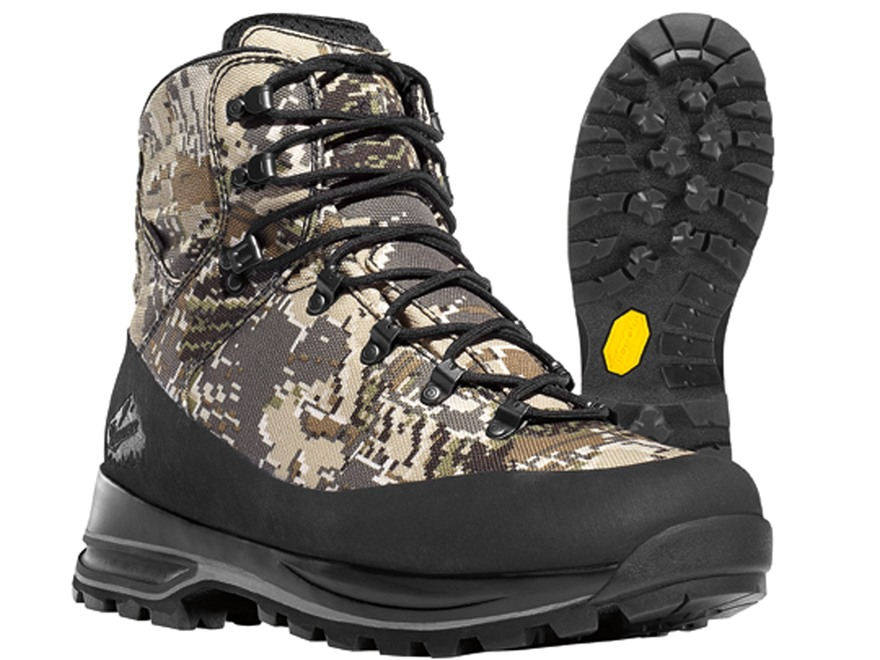 "Danner Full Curl 7"" Waterproof Uninsulated Hunting Boots Nylon Gore Optifade Open Country Camo Men's 6 D"