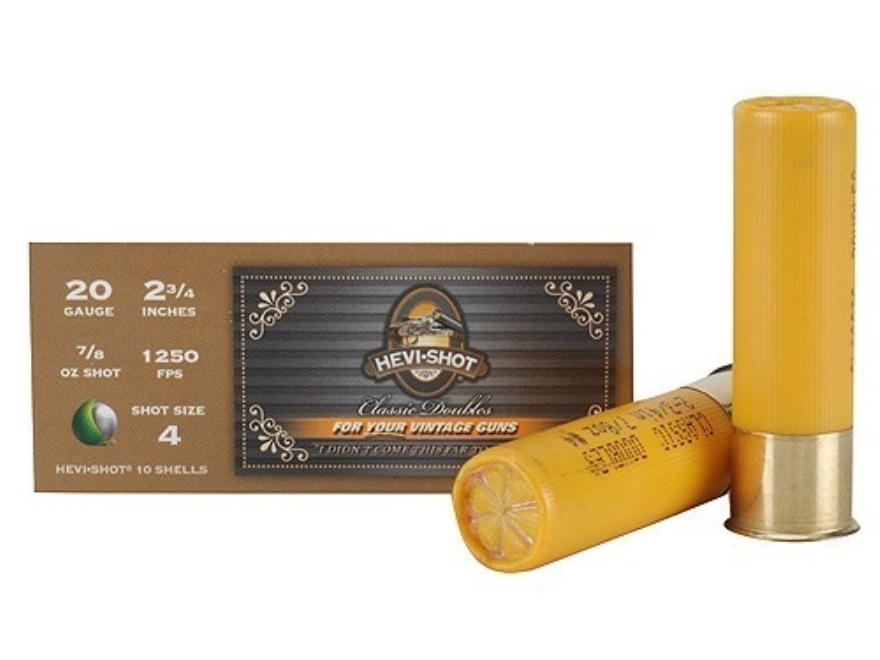"Hevi-Shot Classic Doubles Ammunition 20 Gauge 2-3/4"" 7/8 oz #4 Non-Toxic Hevi-Shot Box of 10"