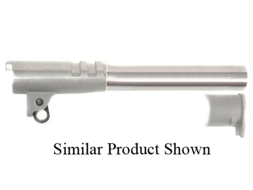 "Bar-Sto Match Target Barrel 1911 Government 45 ACP 1 in 16"" Twist 5"" Stainless Steel"