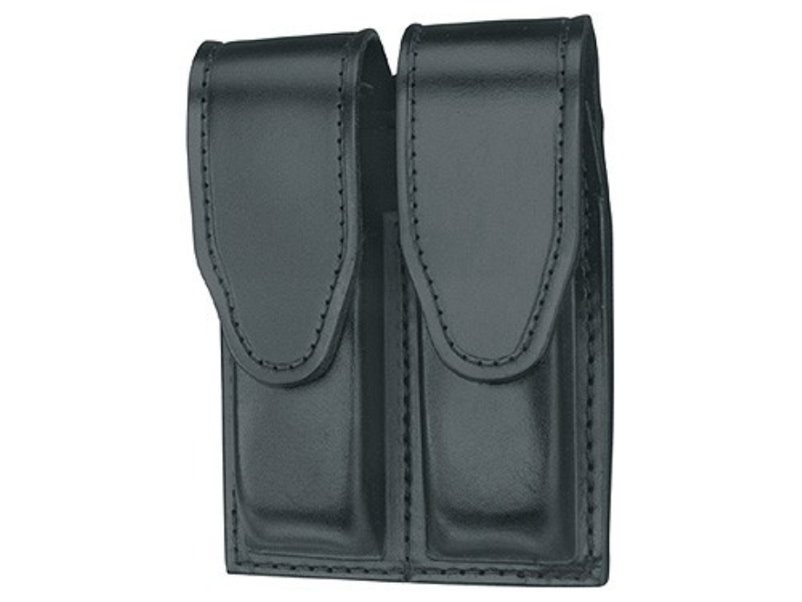 Gould & Goodrich B629 Double Magazine Pouch 1911 Government, Commander, Officer, Beretta 92 Compact Leather Black