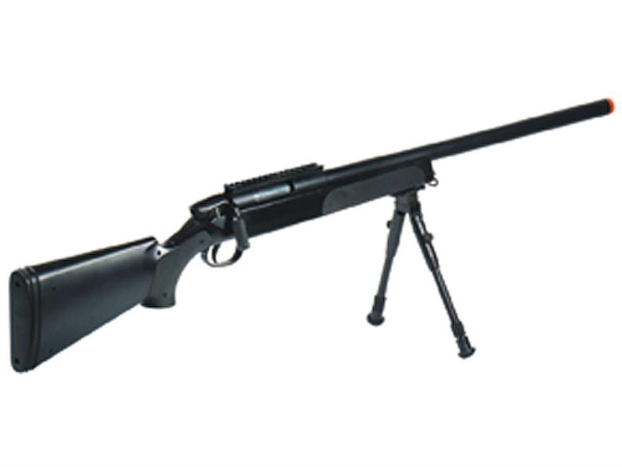 UTG Master Sniper Gen5 Airsoft Rifle 6mm BB Spring Bolt Action Polymer Black