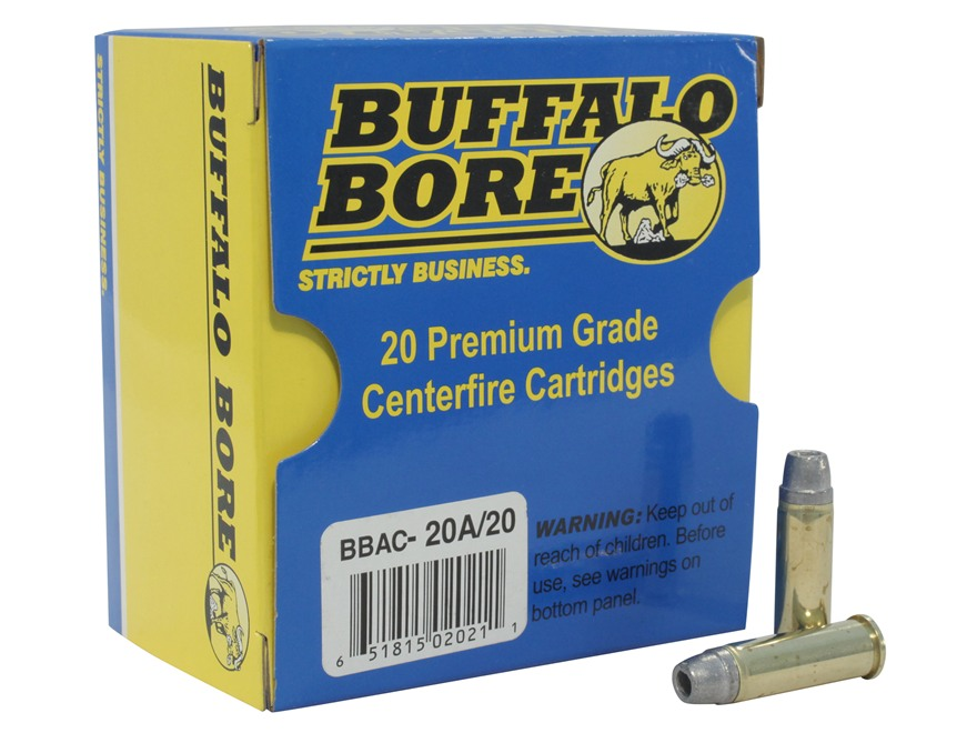 Buffalo Bore Ammunition 38 Special +P 158 Grain Lead Semi-Wadcutter Hollow Point Gas Ch...
