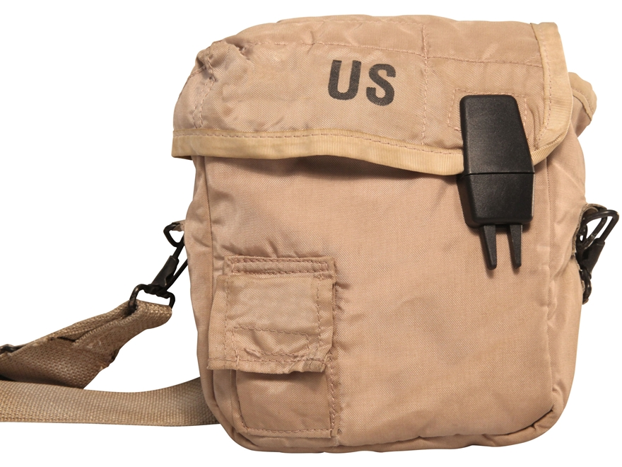 Military Surplus 2 quart Canteen Cover with Strap Grade 1 Desert Tan