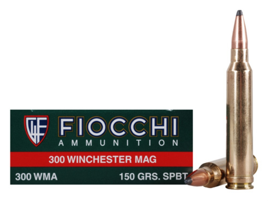Fiocchi Shooting Dynamics Ammunition 300 Winchester Magnum 150 Grain Pointed Soft Point Box of 20