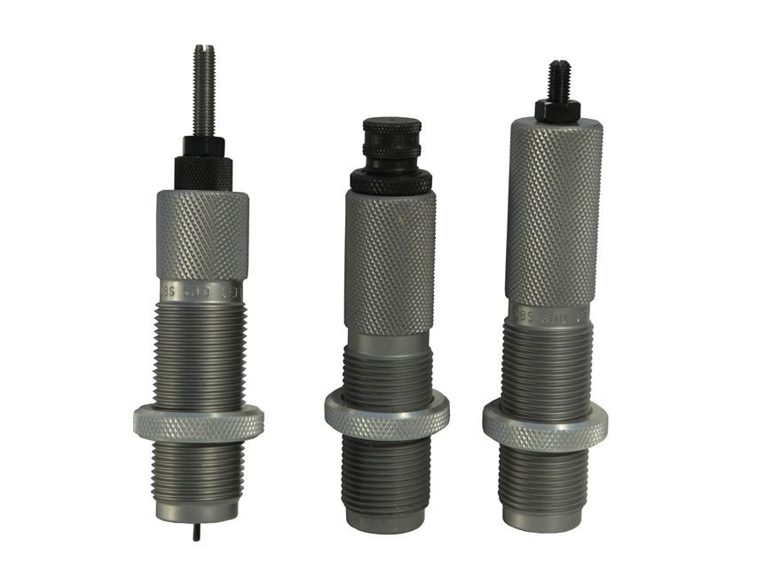 """RCBS 3-Die Neck Sizer Set 500 Jeffery 1""""-14 Thread with 1-1/4""""-12 Thread Adapter Bushing"""