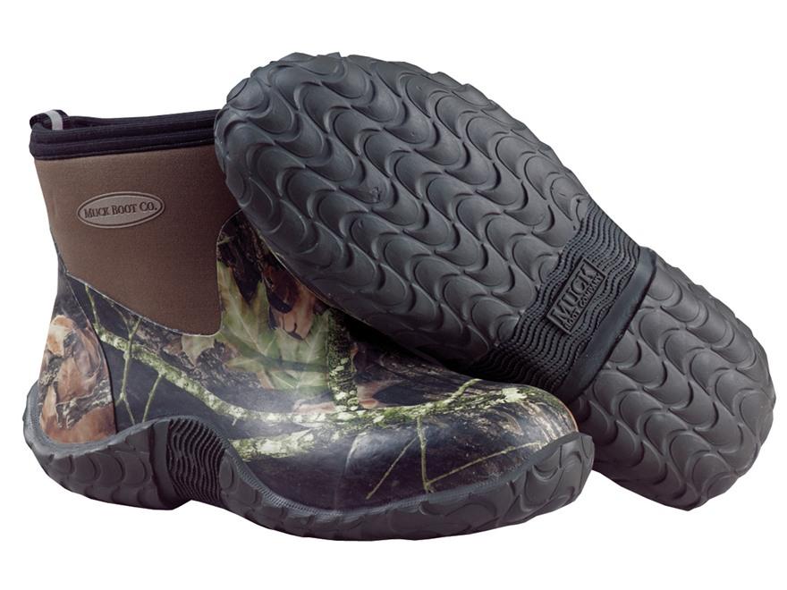 "Muck 6"" Waterproof Uninsulated Camp Boots Rubber and Nylon Mossy Oak Break-Up Camo Men's"