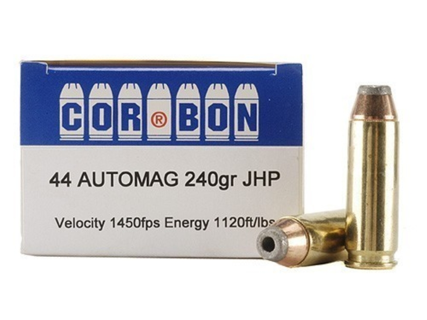 Cor-Bon Hunter Ammunition 44 Automag (44 AMP) 240 Grain Jacketed Hollow Point Box of 20