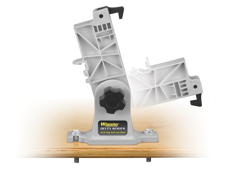 Wheeler Engineering Delta Series Lower Receiver Magazine Well Vise Block KAC SR25, LR-308 Polymer