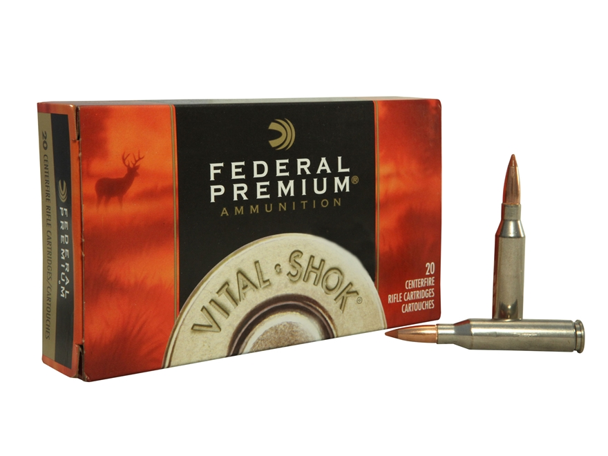 Federal Premium Vital-Shok Ammunition 260 Remington 120 Grain Nosler Ballistic Tip Box of 20