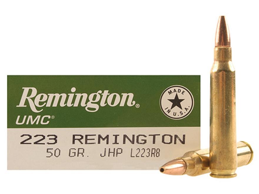 Remington UMC Ammunition 223 Remington 50 Grain Jacketed Hollow Point