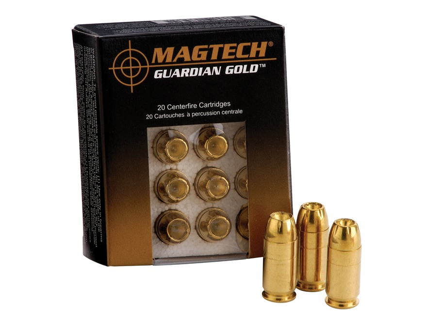 Magtech Guardian Gold Ammunition 9mm Luger 124 Grain Jacketed Hollow Point Box of 20