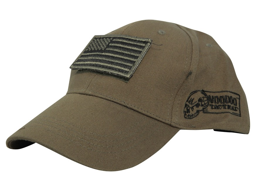 hat with flag patch