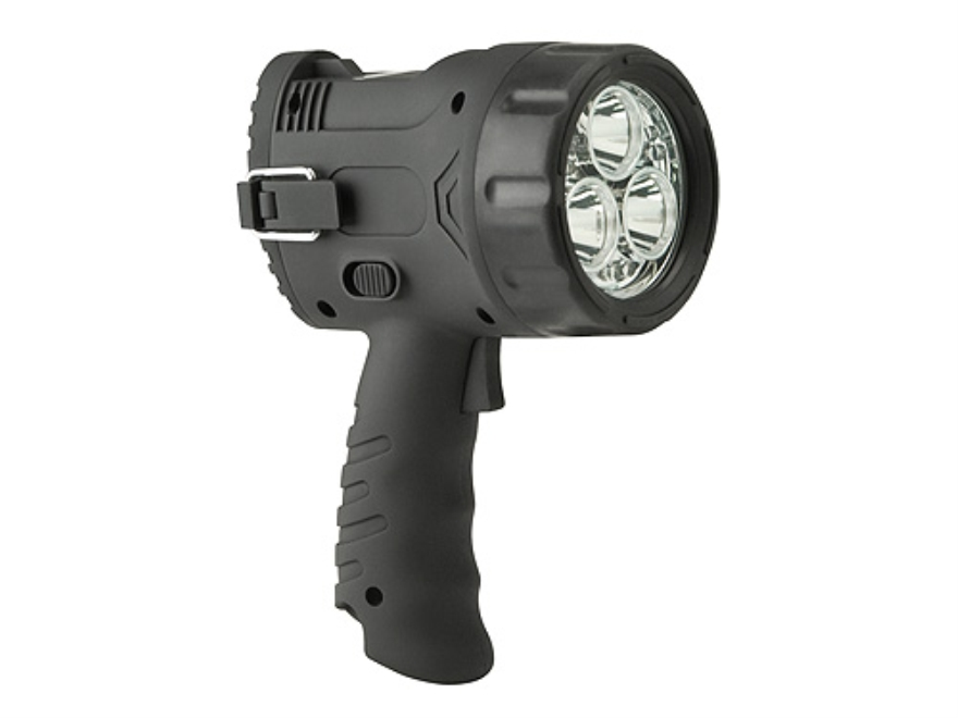 Cyclops Flare Handheld Spotlight LED with 6 AA Batteries Polymer Gray
