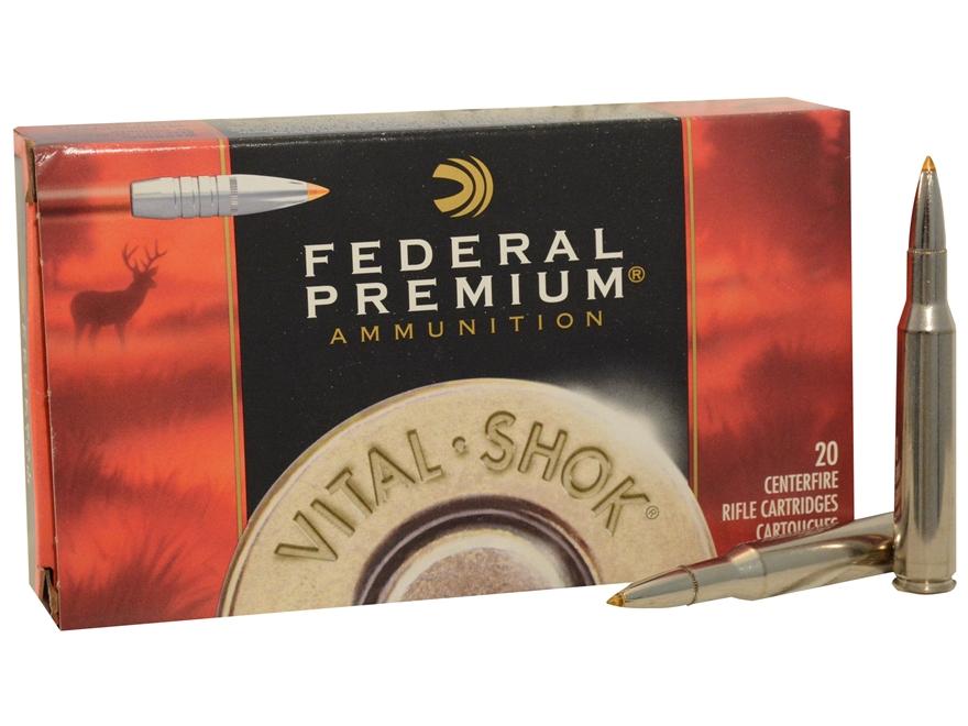 Federal Premium Vital-Shok Ammunition 270 Winchester 140 Grain Trophy Bonded Tip Box of 20