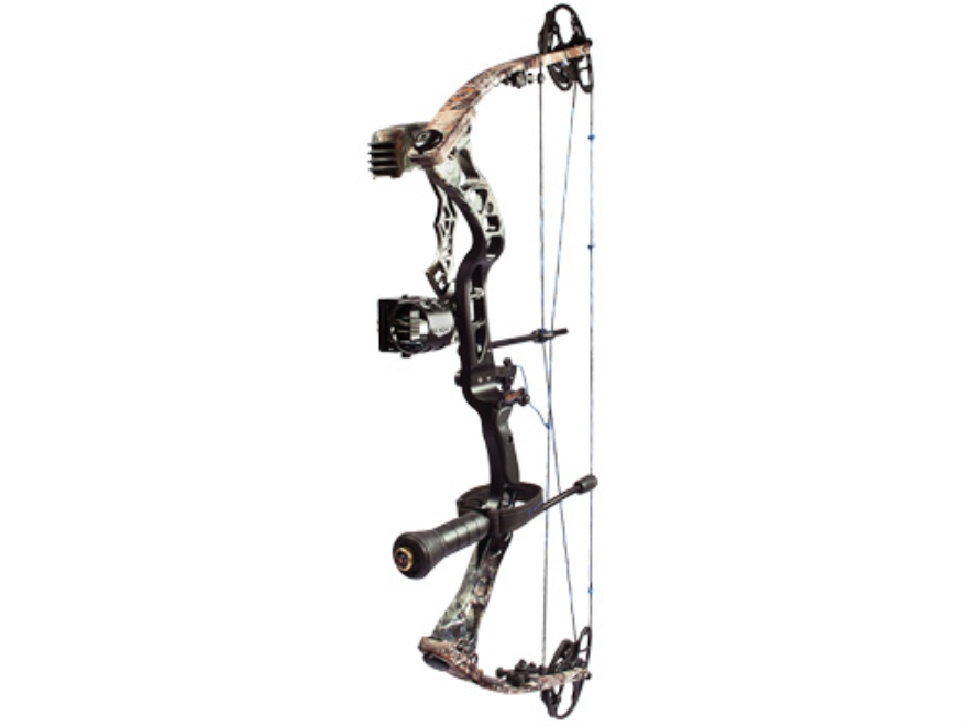 "Quest Rev G-Fade XD Compound Bow Package Right Hand 50-60 lb. 27""-30-1/2"" Draw Length Realtree AP Camo and Black"