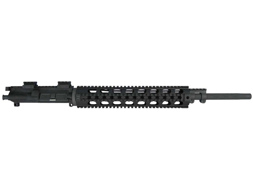 "Yankee Hill AR-15 Lightweight Rifle Upper Assembly 5.56x45mm NATO 1 in 7"" Twist 20"" Fluted Barrel Chrome Lined with Quad Rail Free Float Handguard, Mini Scope Riser Mounts"