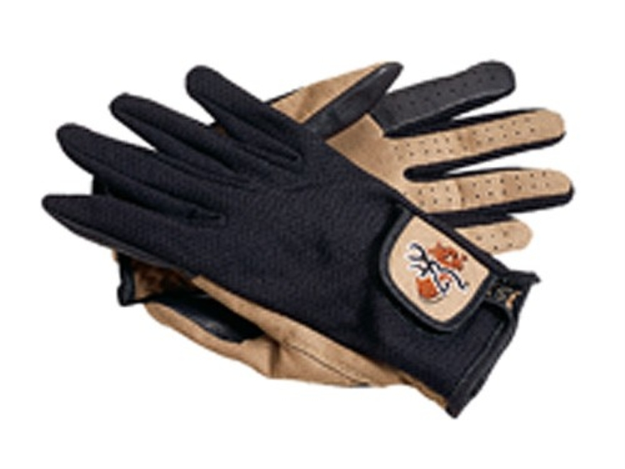 Browning Shooting Gloves Mesh Back Synthetic Suede Tan and Black Large