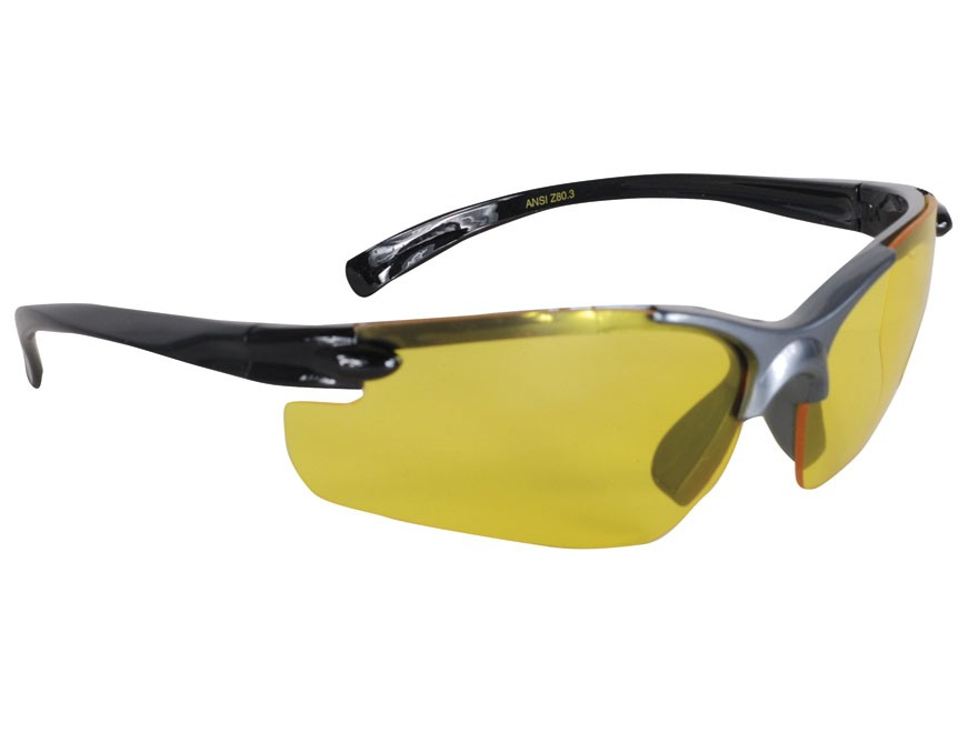 Ruger Shooting Glasses Black/Gray Frame Yellow Lens