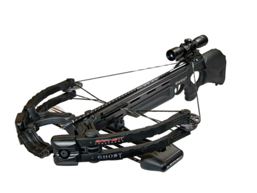 Barnett Ghost 400 CRT Crossbow Package with 3x 32mm Illuminated Multi-Reticle Scope Black