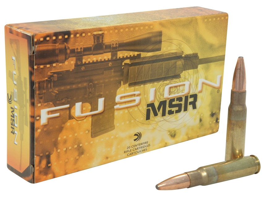 Federal Fusion Modern Sporting Rifle Ammunition 338 Federal 185 Grain Spitzer Boat Tail Box of 20