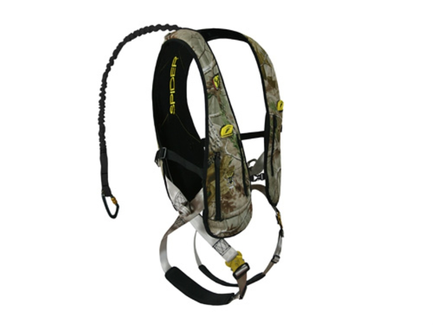 ScentBlocker Tree Spider Speed Treestand Safety Harness Vest Polyester Realtree AP Camo Large/XL