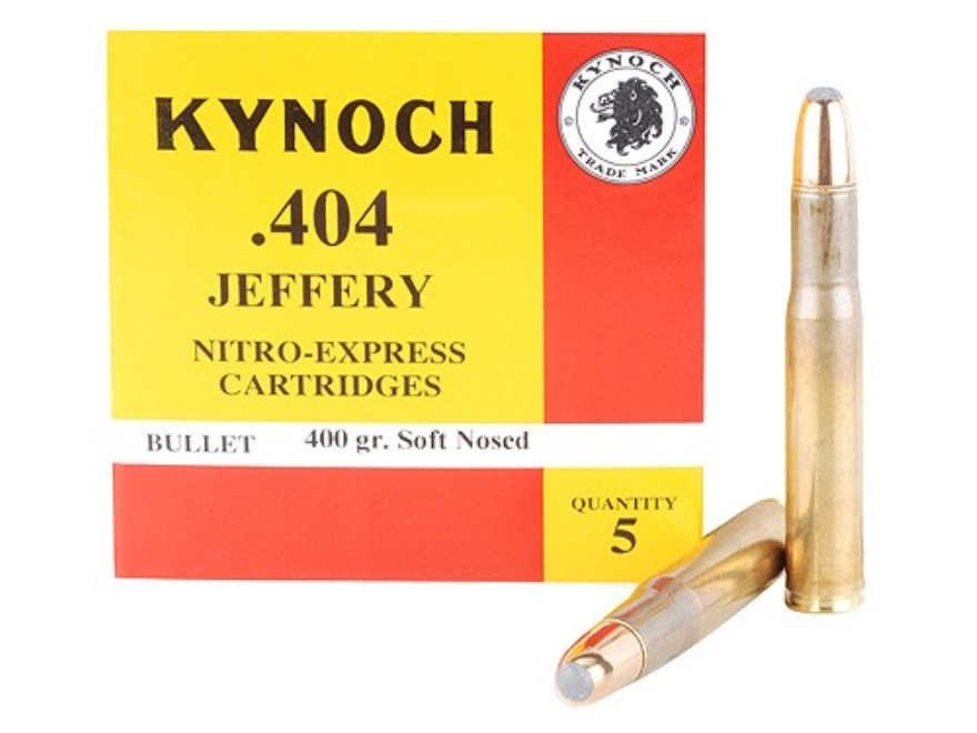 Kynoch Ammunition 404 Jeffery 400 Grain Woodleigh Weldcore Soft Point Box of 5
