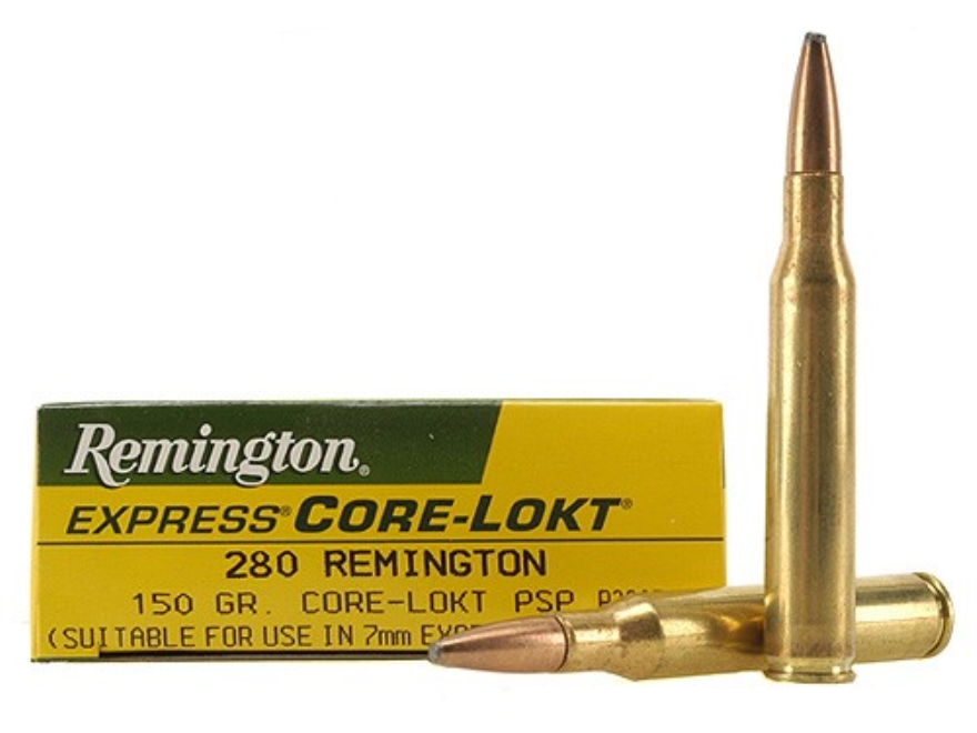 Remington Express Ammunition 280 Remington 150 Grain Core-Lokt Pointed Soft Point Box of 20