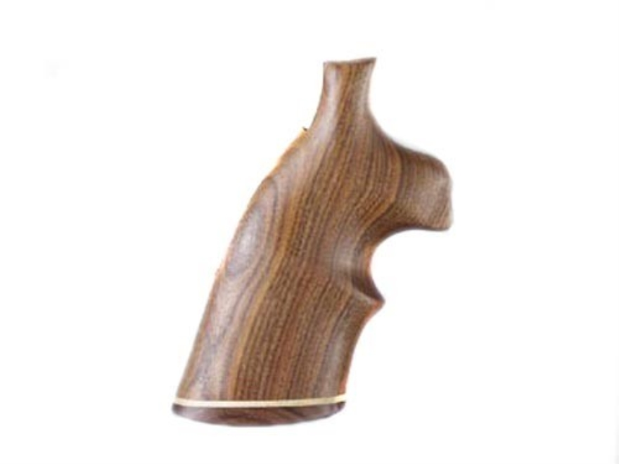 Hogue Fancy Hardwood Grips with Accent Stripe and Top Finger Groove Colt Trooper Mark III