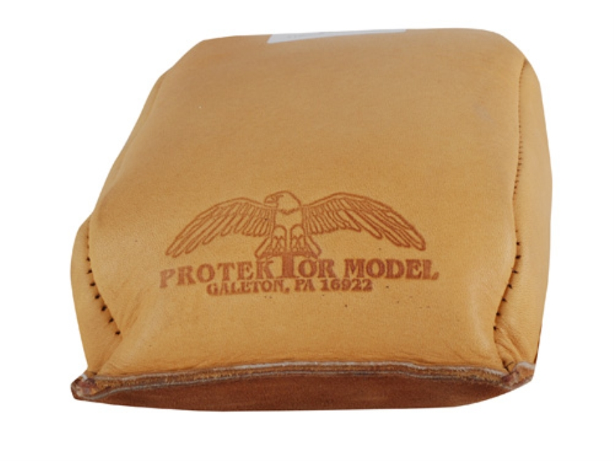 Protektor Standard Rear Shooting Rest Bag Leather Dark Tan Filled