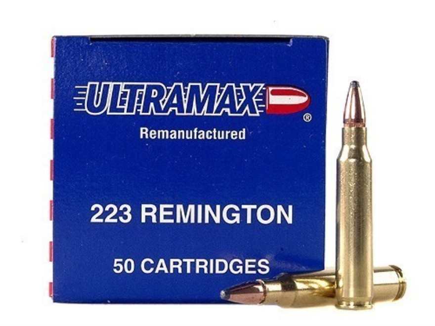 Ultramax Remanufactured Ammunition 223 Remington 55 Grain Soft Point