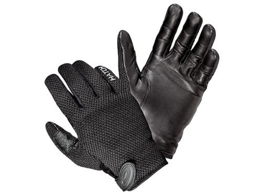 Hatch CT250 CoolTac Duty Gloves Leather Palm Black Medium