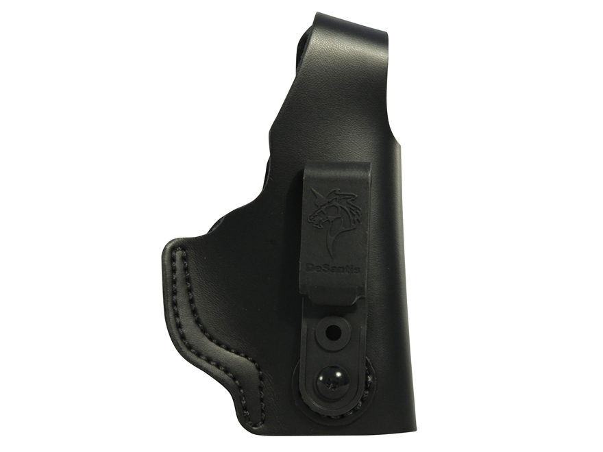 DeSantis Dual Carry II Inside/Outside the Waistband Holster S&W M&P 9, 40 Shield Leather Black