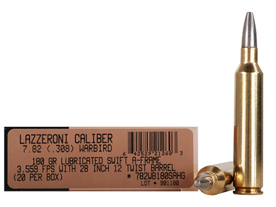 Lazzeroni Ammunition 7.82 Warbird 180 Grain Swift A-Frame Semi-Sptizer Box of 20
