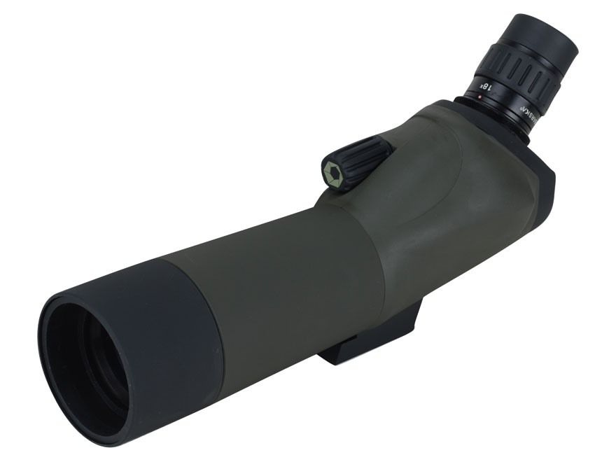 Barska Blackhawk Spotting Scope 18-36x 50mm with Tripod and Soft Case Rubber Armored Green