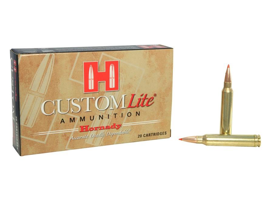 Hornady Custom Lite Ammunition 300 Winchester Magnum 150 Grain SST Box of 20