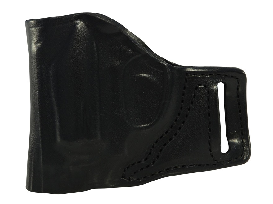 DeSantis L-Gat Slide Belt Holster Left Handed S&W J 36, 37, 60, 317, 331, 337, 360, Bodyguard Leather Black