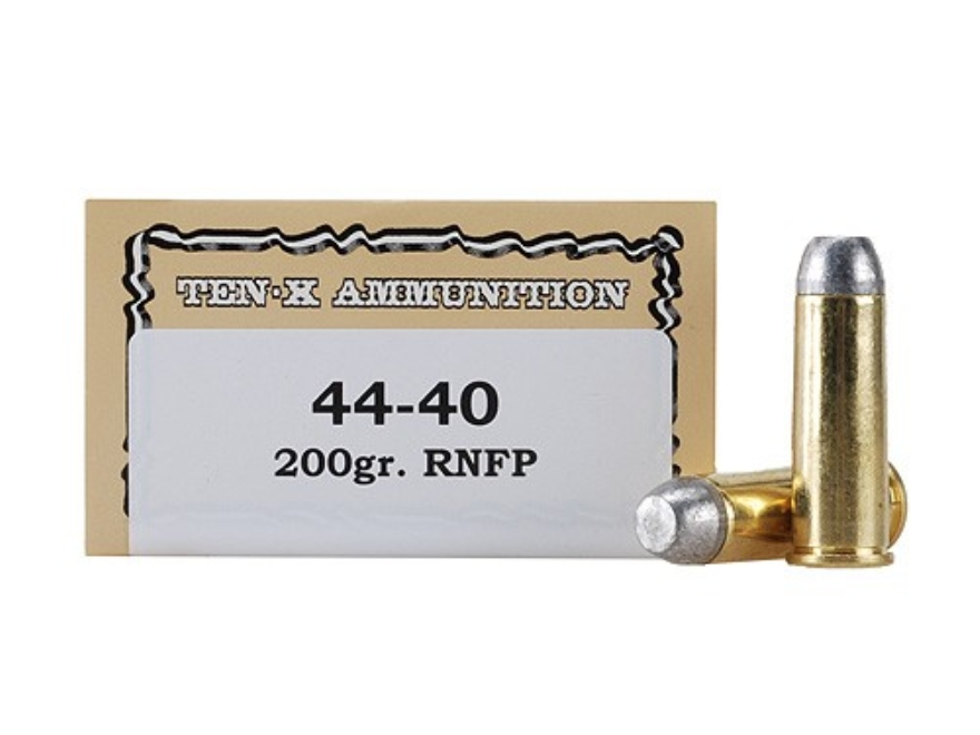 Ten-X Cowboy Ammunition 44-40 WCF 200 Grain Lead Round Nose Flat Point Box of 50