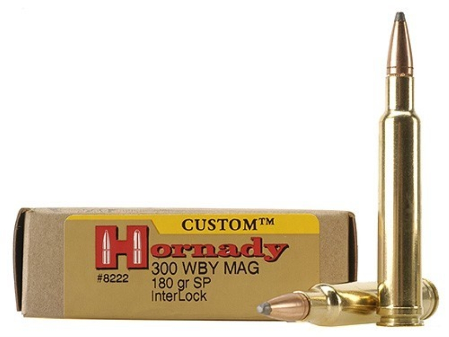 Hornady Custom Ammunition 300 Weatherby Magnum 180 Grain InterLock Spire Point Box of 20