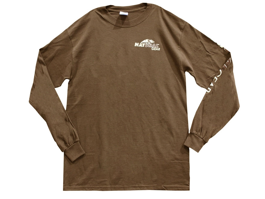 Natural Gear Men's Logo T-Shirt Long Sleeve Cotton