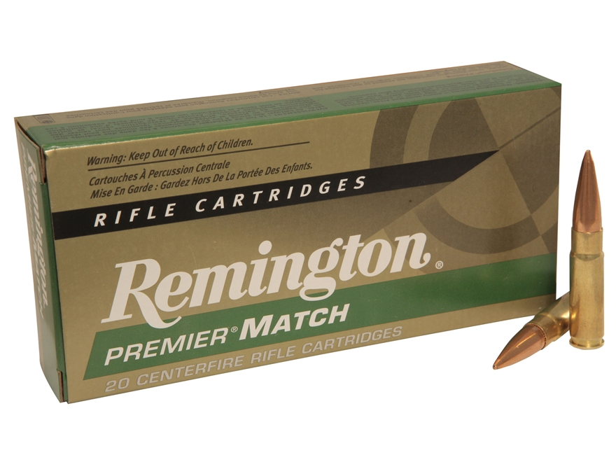 Remington Premier Match Ammunition 300 AAC Blackout 125 Grain Open-Tip Match (OTM) Box of 20