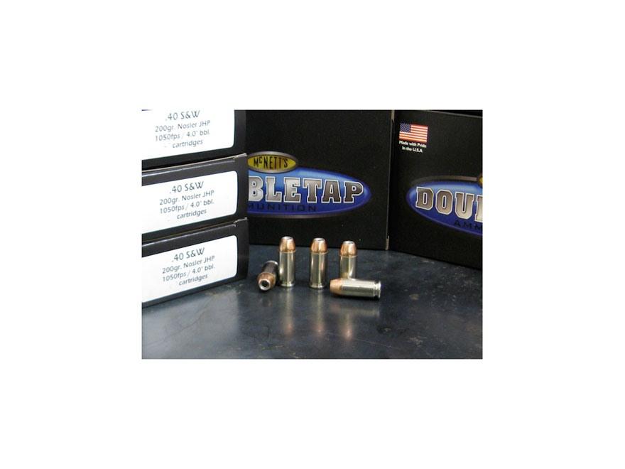 Doubletap Ammunition 40 S&W 200 Grain Nosler Jacketed Hollow Point