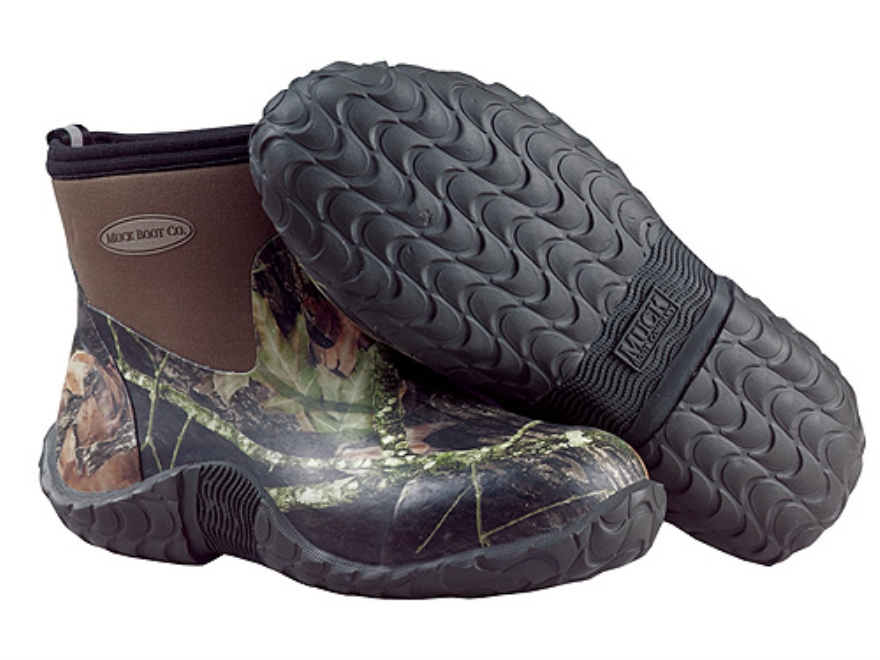 "Muck 6"" Waterproof Insulated Camp Boots Rubber and Nylon Mossy Oak Break-Up Camo Men's 10 D"