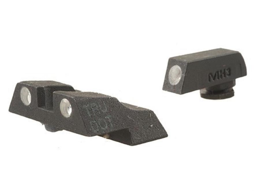 Meprolight Tru-Dot Sight Set Glock 26, 27 Steel Blue Tritium Green Front