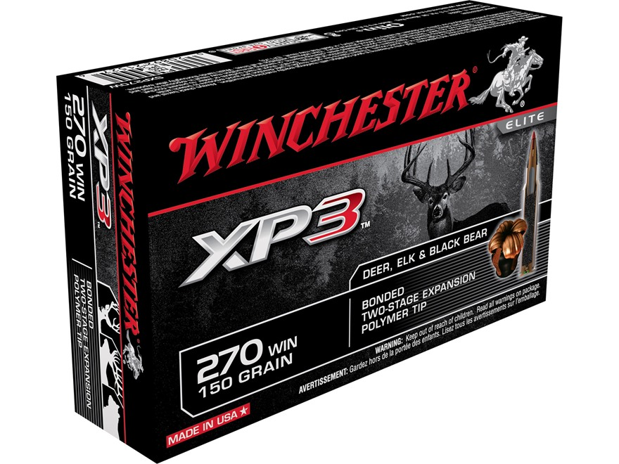 Winchester Ammunition 270 Winchester 150 Grain XP3 Box of 20