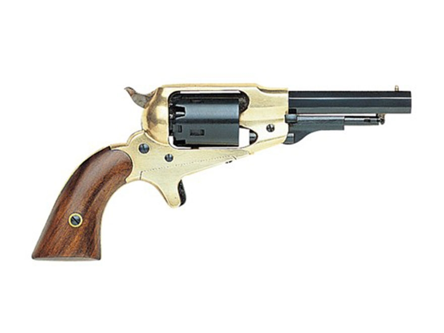 "Pietta 1863 Pocket Remington Brass Frame Black Powder Revolver 31 Caliber 3-1/2"" Barrel Blue"