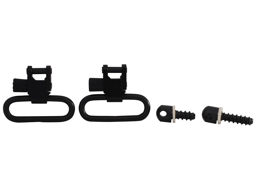 Uncle Mike's Quick Detachable Wood Screw Type Sling Swivel Set Black